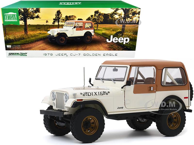 1979 Jeep CJ-7 Golden Eagle Dixie Cream 1/18 Diecast Model Car Greenlight 19065
