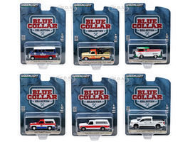 Blue Collar Collection Set of 6 pieces Series 7 1/64 Diecast Model Cars Greenlight 35160