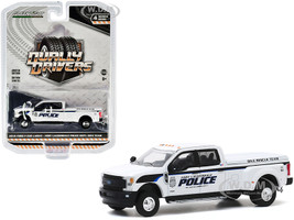 2019 Ford F-350 Lariat Dually Pickup Truck White Fort Lauderdale Police Department Dive Rescue Team Fort Lauderdale Florida Dually Drivers Series 4 1/64 Diecast Model Car Greenlight 46040 F