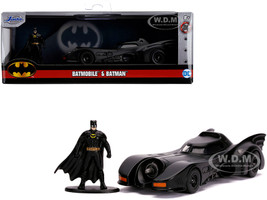 1989 Batmobile Diecast Batman Figurine Batman 1989 Movie DC Comics Hollywood Rides Series 1/32 Diecast Model Car Jada 31704