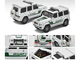 Mercedes Benz G-Class Dubai Police Car White Green 1/64 Diecast Model Car Era Car MB204X4RN26