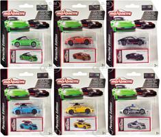 Deluxe 2020 Porsche 911 Carrera S Set of 6 pieces 1/64 Diecast Model Cars Majorette 3153