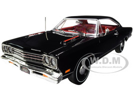 1969 Plymouth GTX Hardtop X9 Black Velvet Red Interior Muscle Car & Corvette Nationals MCACN 1/18 Diecast Model Car Autoworld AMM1204