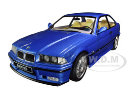 1994 BMW E30 M3 Blue Estoril Metallic 1/18 Diecast Model Car Solido S1803901