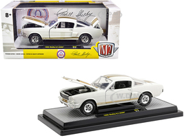 1966 Ford Mustang Shelby GT350H Wimbledon White Gold Stripes Limited Edition 5880 pieces Worldwide 1/24 Diecast Model Car M2 Machines 40300-75 A