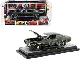 1969 Chevrolet Camaro SS 396 Fathom Green Metallic Black Stripes Limited Edition 5880 pieces Worldwide 1/24 Diecast Model Car M2 Machines 40300-75 B