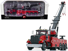 Peterbilt 367 Century 1060S Wrecker Tow Truck Black Red 1/50 Diecast Model First Gear 50-3438