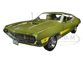 1970 Ford Torino GT Hardtop Medium Ivy Green Metallic Green Interior Class of 1970 1/18 Diecast Model Car Autoworld AMM1211