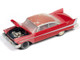 1958 Plymouth Fury Red Partially Restored Christine 1983 Movie 1/64 Diecast Model Car Autoworld AWSP039