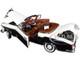 1958 Mercedes Benz 220 SE Convertible Ivory White Black 1/18 Diecast Model Car SunStar 3576