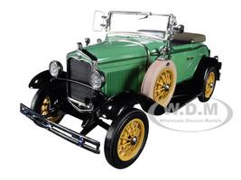 1931 Ford Model A Roadster Reseda Green 1/18 Diecast Model Car SunStar 6127