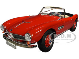 1956 BMW 507 Convertible Red 1/18 Diecast Model Car Norev 183231