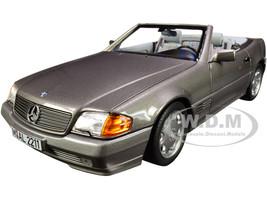 1989 Mercedes Benz 500SL Convertible Gray Metallic 1/18 Diecast Model Car Norev 183715