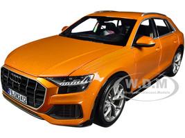 2018 Audi Q8 Orange Metallic 1/18 Diecast Model Car Norev 188371