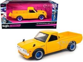 1973 Datsun 620 Pickup Truck Yellow Tokyo Mod Maisto Design 1/24 Diecast Model Car Maisto 32528