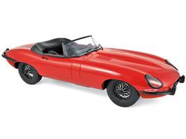 1962 Jaguar E-Type Cabriolet Red 1/12 Diecast Model Car Norev 122720