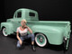 Car Girl in Tee Michelle Figurine for 1/24 Scale Models American Diorama 38337
