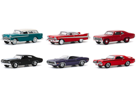 Barrett Jackson Scottsdale Edition Set of 6 Cars Series 5 1/64 Diecast Model Cars Greenlight 37200