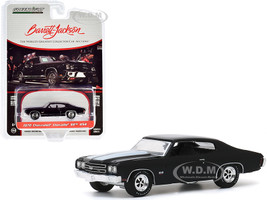 1970 Chevrolet Chevelle SS 454 Black White Stripes Lot #1075 Barrett Jackson Scottsdale Edition Series 5 1/64 Diecast Model Car Greenlight 37200 D