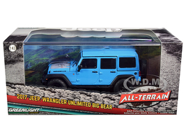 2017 Jeep Wrangler Unlimited Chief Big Bear Bright Blue All-Terrain Series 1/43 Diecast Model Car Greenlight 86180