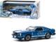1976 Ford Mustang II Cobra II Blue Metallic White Stripes 1/43 Diecast Model Car Greenlight 86336