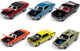 Muscle Cars USA 2020 Set A of 6 Cars Release 1 Limited Edition 2500 pieces Worldwide 1/64 Diecast Model Cars Johnny Lightning JLMC022 A