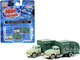 1957 Chevrolet Garbage Truck Ironwood Sanitation Light Green Dark Green Dirty Set of 2 pieces 1/160 N Scale Models Classic Metal Works 50409