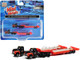 1954 IH R-190 Tractor Truck Lowboy Trailer Bonito Contractor Black Red Set of 2 pieces 1/160 N Scale Models Classic Metal Works 51193