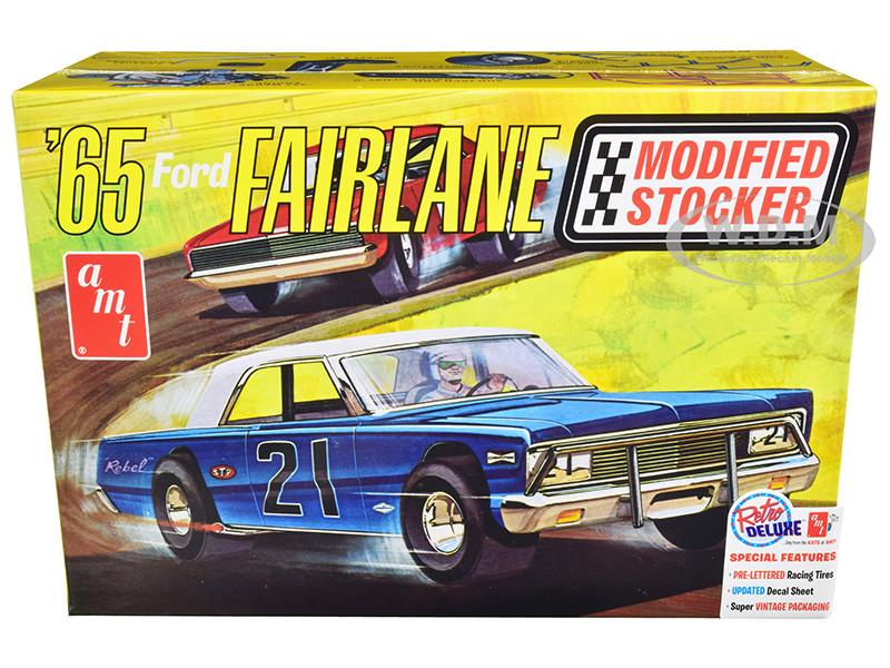 Skill 2 Model Kit 1965 Ford Fairlane Modified Stocker 1/25 Scale Model AMT AMT1190