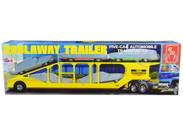 Skill 3 Model Kit Haulaway Trailer Five-Car Automobile Transporter 1/25 Scale Model AMT AMT1193