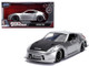 Nissan 370Z Silver Black Hood Fast & Furious Series 1/32 Diecast Model Car Jada 31852