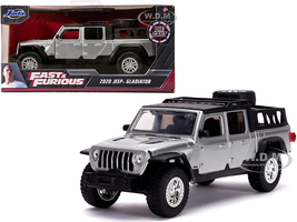 2020 Jeep Gladiator Pickup Truck Silver Black Top Fast & Furious Movie 1/32 Diecast Model Car Jada 32031