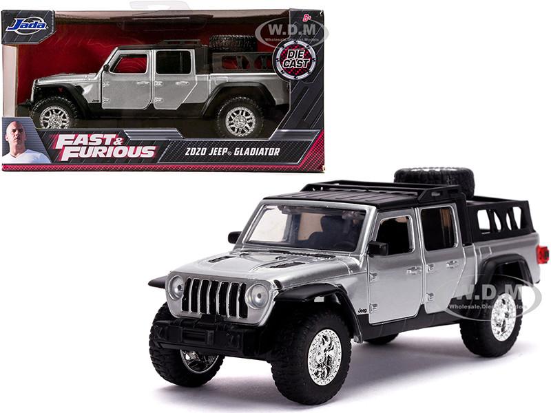 2020 Jeep Gladiator Pickup Truck Silver Black Top Fast & Furious Movie 1/32 Diecast Model Car Jada 32031