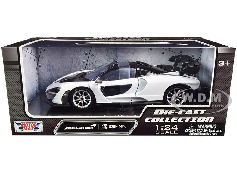 McLaren Senna White Black 1/24 Diecast Model Car Motormax 79355