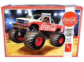 Skill 2 Model Kit Chevrolet Silverado Monster Truck Coca Cola 1/25 Scale Model AMT AMT1184 M
