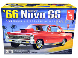 Skill 2 Model Kit 1966 Chevrolet Nova SS 2 in 1 Kit 1/25 Scale Model AMT AMT1198 M