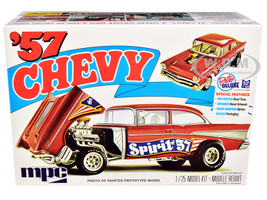 Skill 2 Model Kit 1957 Chevrolet Gasser Flip Nose Spirit of 57 1/25 Scale Model MPC MPC904