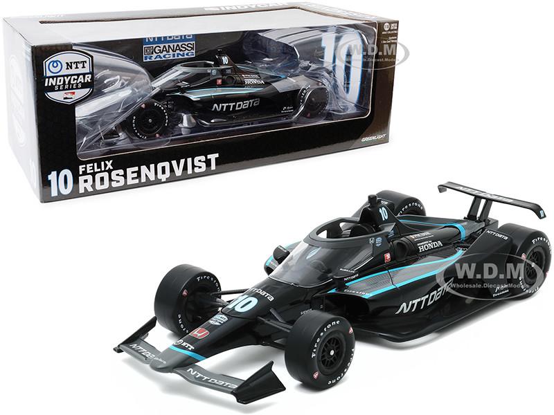Dallara IndyCar #10 Felix Rosenqvist NTT Data Chip Ganassi Racing NTT IndyCar Series 2020 1/18 Diecast Model Car Greenlight 11084