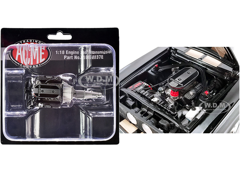 Engine and Transmission 428 Cobra Replica from 1967 Ford Mustang Shelby GT500 1/18 ACME A1801837E