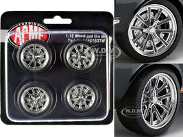 "Street Fighter 18"" G-Force Wheel and Tire Set of 4 pieces from 1967 Ford Mustang Shelby GT500 1/18 ACME A1801837W"