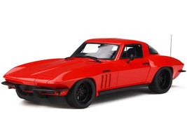 Chevrolet Corvette C2 Red Black Wheels Limited Edition 999 pieces Worldwide 1/18 Model Car GT Spirit GT266