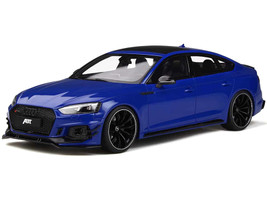 Audi ABT RS5 Sportback Nogaro Blue Black Wheels Limited Edition 999 pieces Worldwide 1/18 Model Car GT Spirit GT273