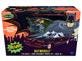 Skill 2 Snap Model Kit 1966 Batmobile Batman Robin Figurines Batman 1966 1968 Classic TV Series 1/25 Scale Model Polar Lights POL965