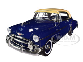 1950 Chevrolet Bel Air Dark Blue Cream Top Timeless Legends 1/18 Diecast Model Car Motormax 73111