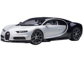 Bugatti Chiron Glacier White Atlantic Blue 1/12 Model Car Autoart 12112