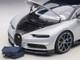 Bugatti Chiron Glacier White Atlantic Blue 1/12 Model Car Autoart 12112