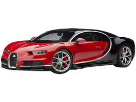Bugatti Chiron Italian Red Nocturne Black 1/12 Model Car Autoart 12113