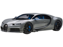 Bugatti Chiron Jet Gray Blue Interior 1/12 Model Car Autoart 12114