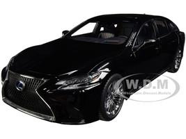 Lexus LS 500h Black Black Interior 1/18 Model Car Autoart 78868