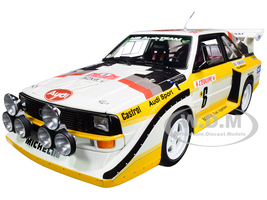 Audi Sport Quattro S1 #6 H. Mikkola A. Hertz Rally Monte Carlo 1986 1/18 Model Car Autoart 88602